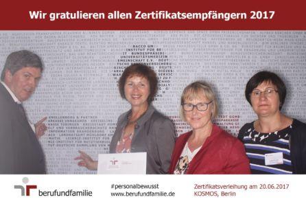 von links: Wilhem und Elisabeth Knollenborg, Martha Laarmann und Lydia Richter